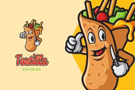 Tortilla - Mascot Logo