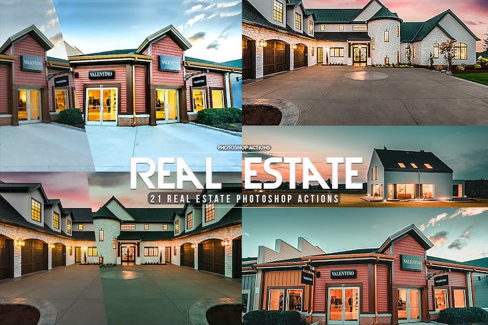 Thumbnail for 21 Real Estate Photoshop Actions