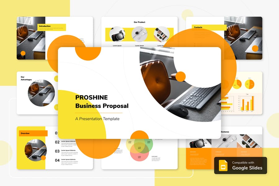 PROSHINE - Бизнес Google Слайды Шаблон