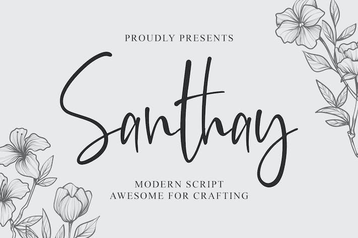 Thumbnail for Santhay - Modern Script Font