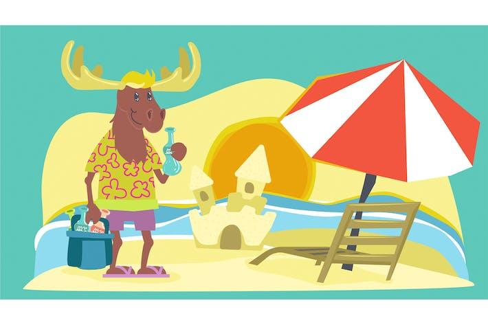 Thumbnail for Fabel Deer Kids Illustration