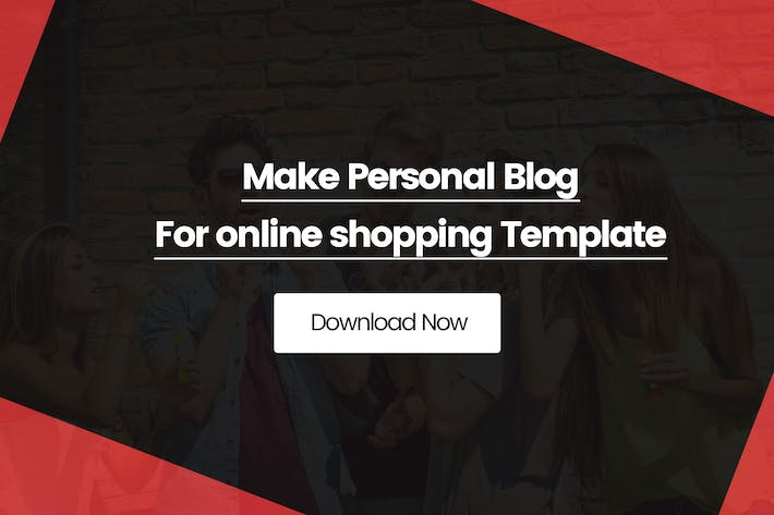 Thumbnail for Make Personal Blog For online shopping Template