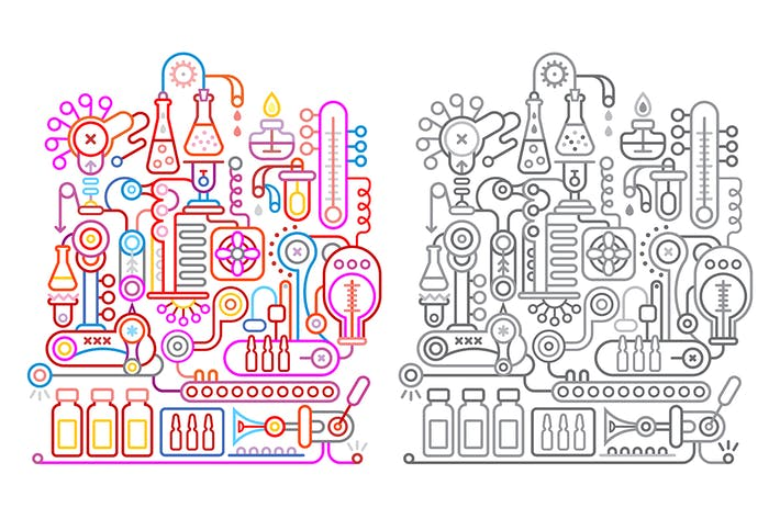 Thumbnail for Modern Research Laboratory Vector Illustration