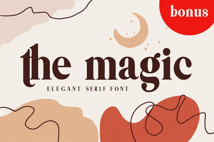 Thumbnail for Themagic Con serifa Font + Bonus