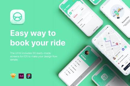 ABER - Taxi Booking App UI Kit