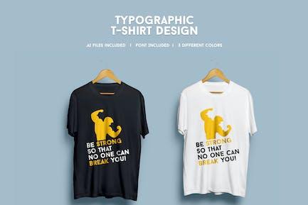 Typografisches T-Shirt