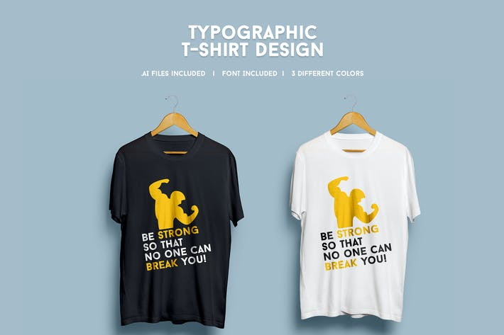 Thumbnail for Typographic T-Shirt Design
