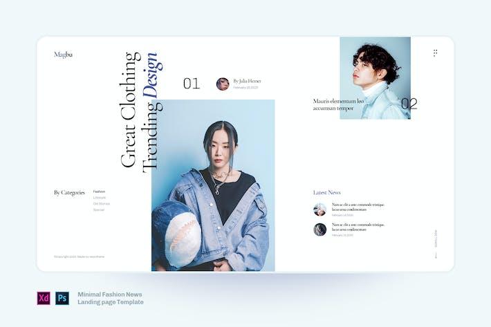 Thumbnail for Magbu - Minimal Fashion news landing page template