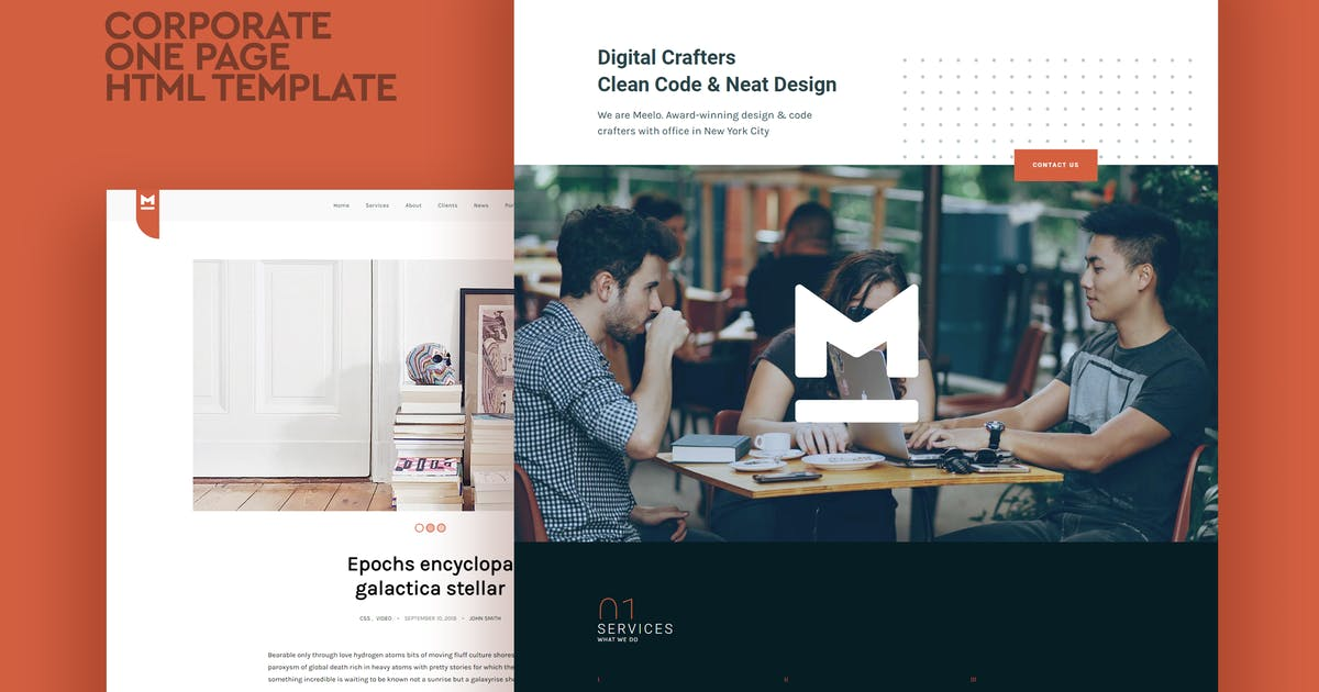 Download Meelo - Corporate One Page HTML Template by CocoBasic