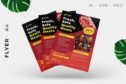 Butcher Meat Flyer Design