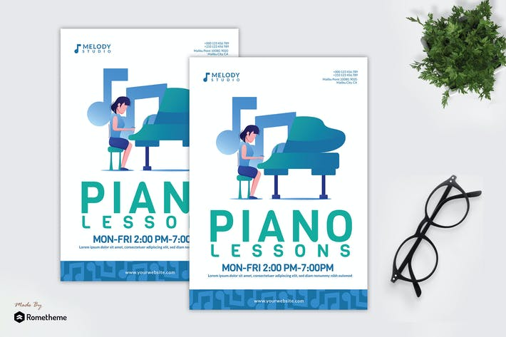 Thumbnail for Piano Lessons - Creative Flyer GR
