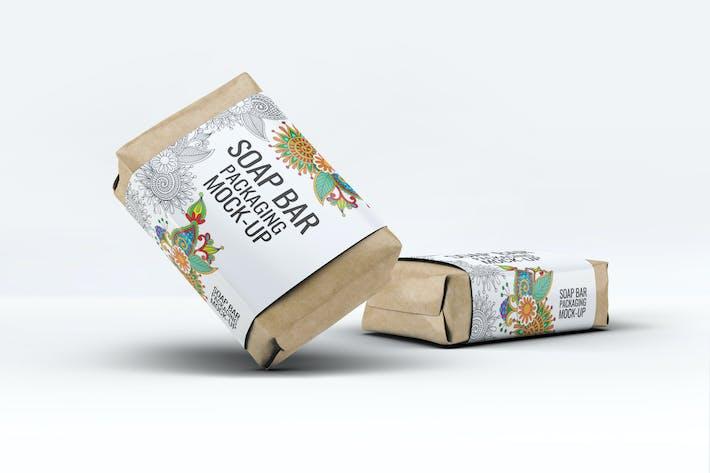 Thumbnail for Maqueta de empaque de manga de papel de barra de jabón