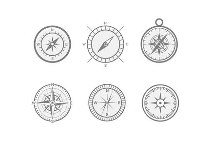 6 Kompass und NavigationsIcons