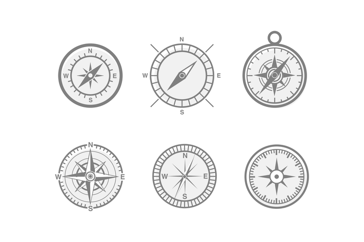 Thumbnail for 6 Compass and Navigation Icons