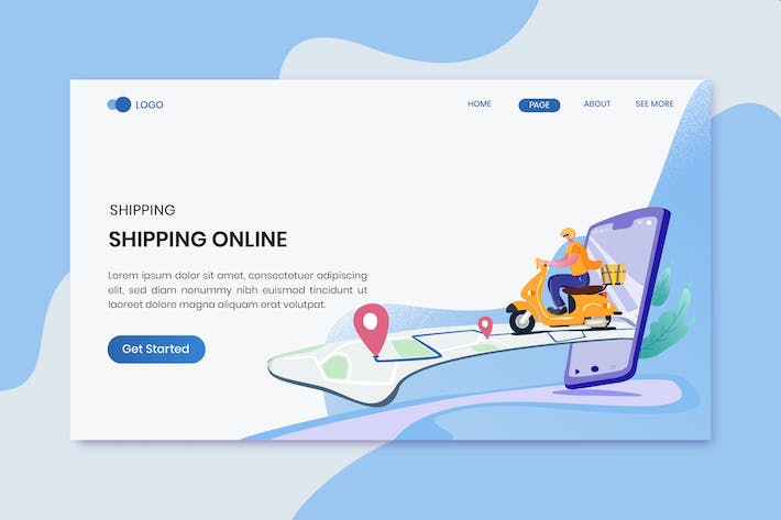 Thumbnail for Fast Delivery Lading Page Template
