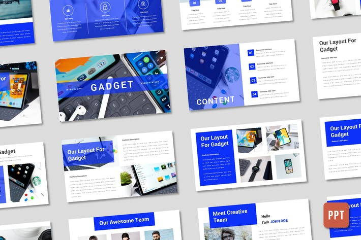 Thumbnail for Gadget Presentation Template - (PPT)