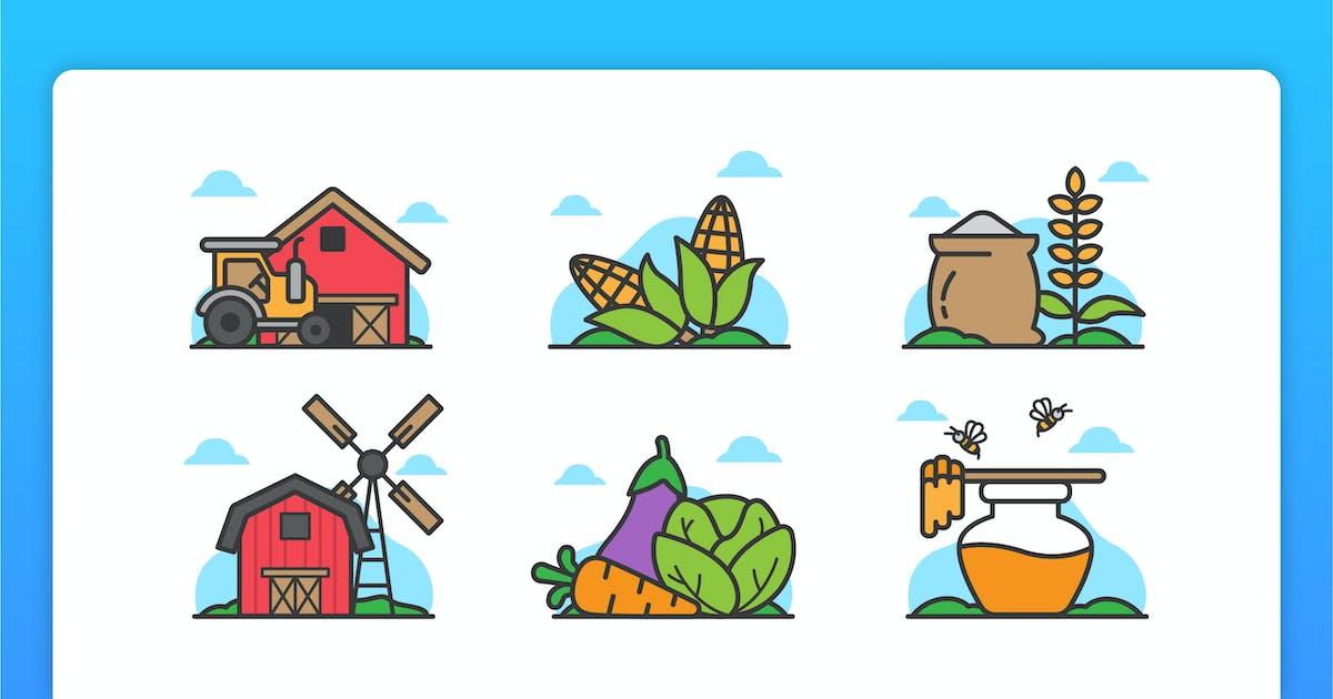 Download Farm Illustrative Icons by yellowline_std