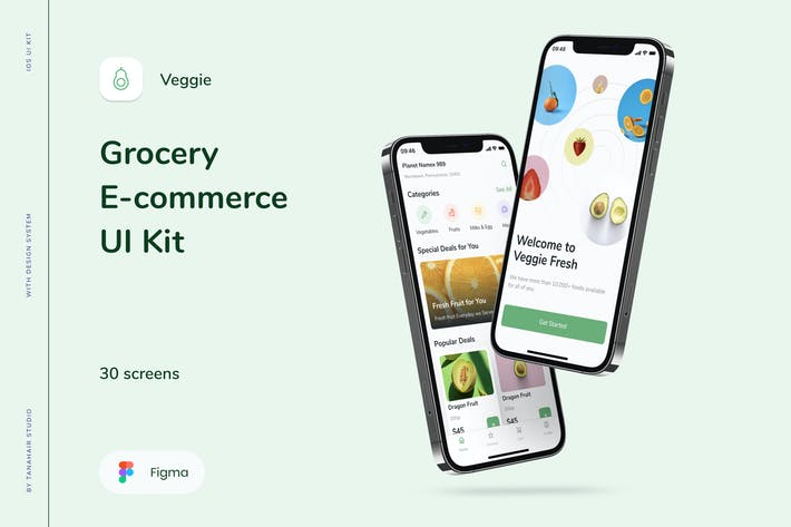 Veggie - Grocery E-commerce UI Kit