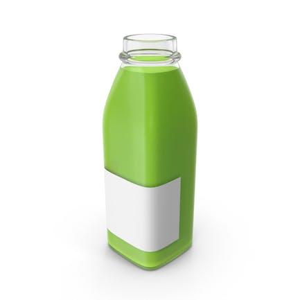 Juice Bottle Mockup Green Open