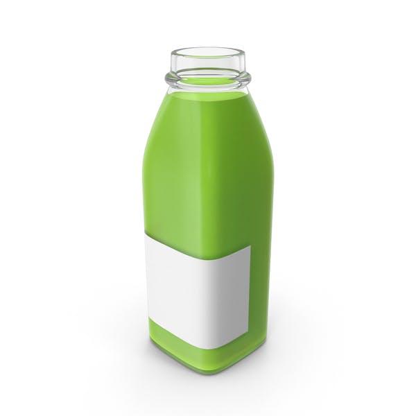 Thumbnail for Juice Bottle Mockup Green Open