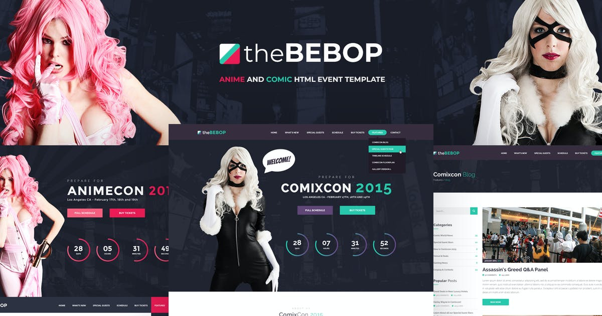Download The Bebop Anime and Comic HTML Convention Template by Odin_Design