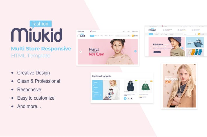 Thumbnail for MiuKid | Multi Store Responsive HTML Template
