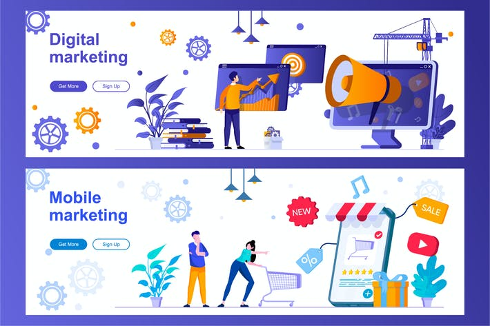 Thumbnail for Digital Marketing and Advertising Web Banners