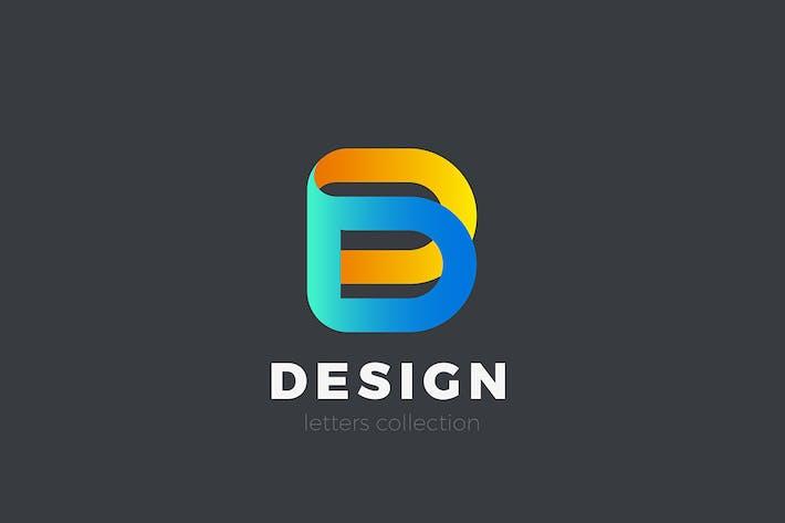 Thumbnail for Письмо D Логотип дизайн 3D стиль ленты