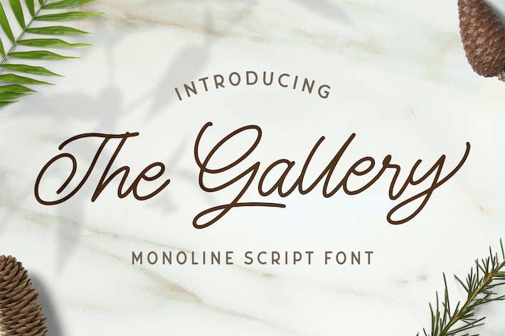 Thumbnail for The Gallery - Monoline Script Font