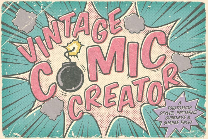 Cover Image For Vintage Comic Creator