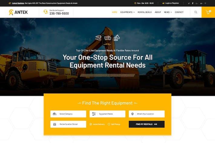 Thumbnail for Antek - Alquiler de Equipos de Construcción HTML