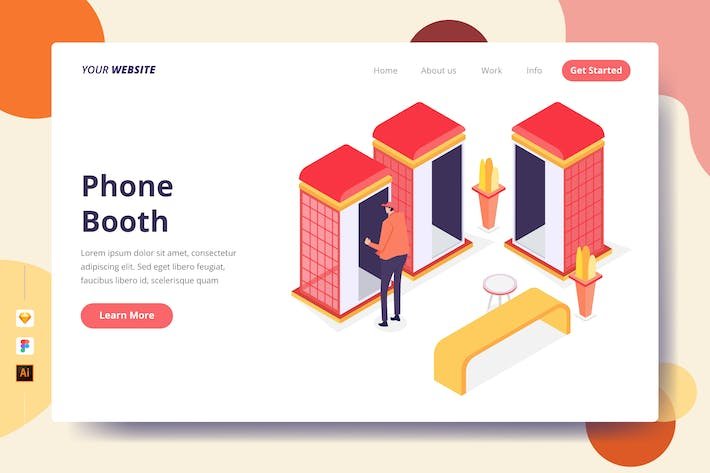Thumbnail for Phone Booth - Landing Page