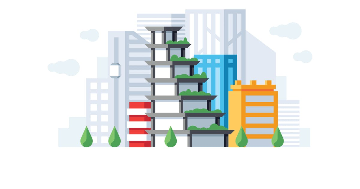Download Downtown office buildings illustration by mir_design