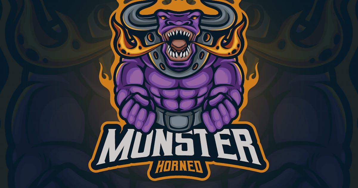 Download Monster Horned Mascot Logo by erix_ultrasonic