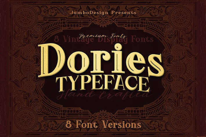 Thumbnail for Dories - Display Font