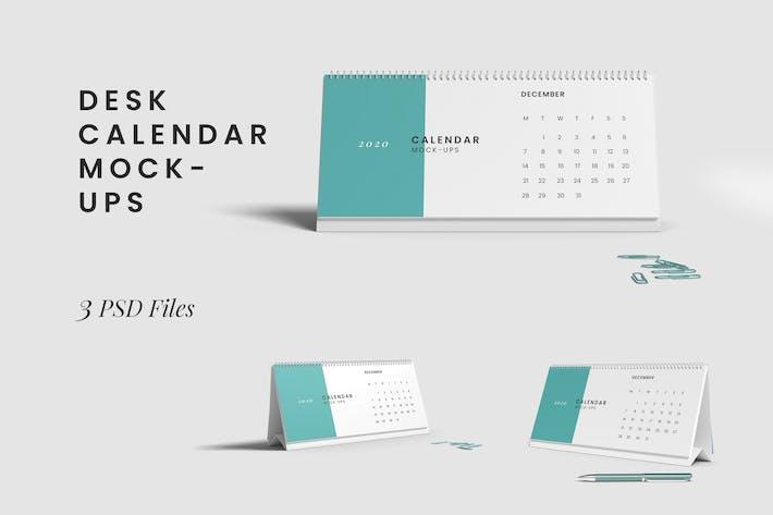 Thumbnail for Desk Calendar Mockups