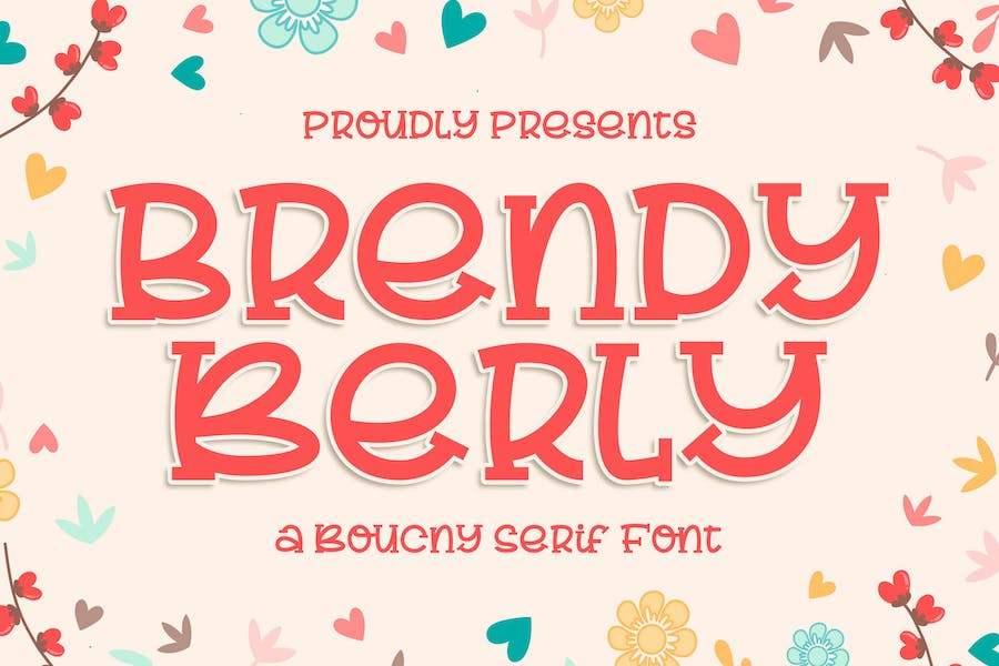 Brendy Berly a Bouncy Serif Font