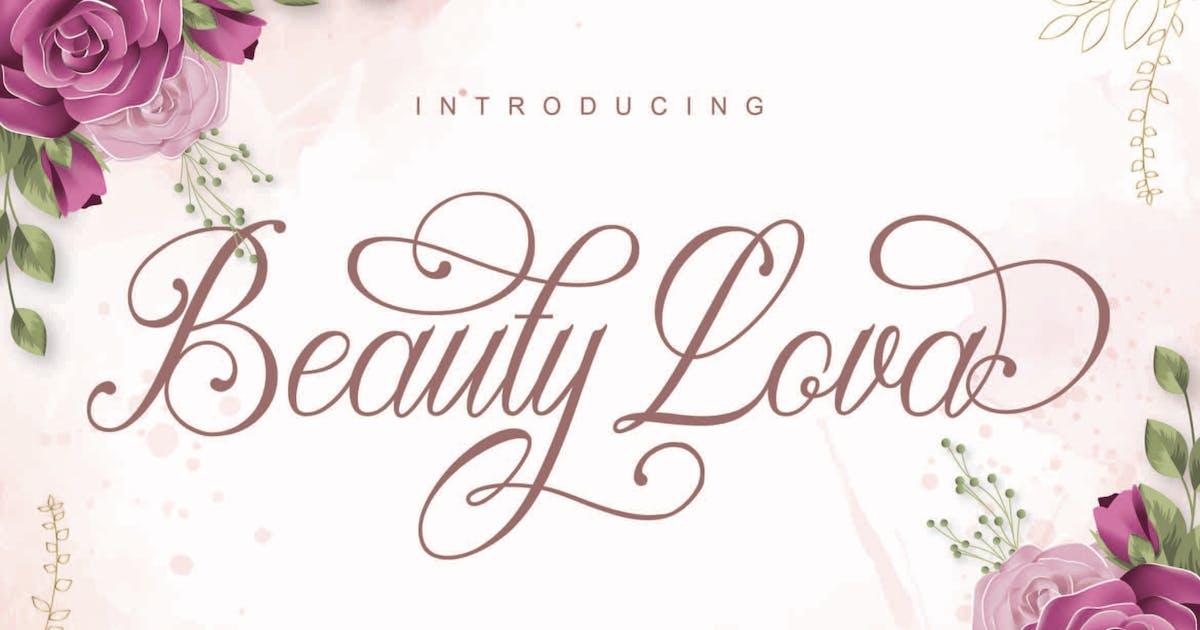 Download Beauty Lova Script Font by axelartstudio