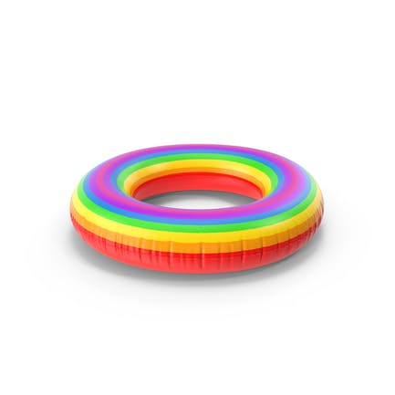 Rainbow Inflatable Rubber Ring