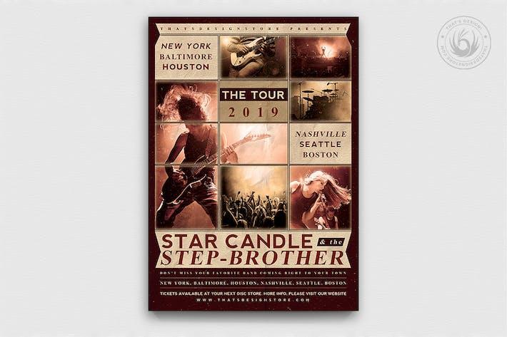 Thumbnail for Live Concert Flyer Template V2