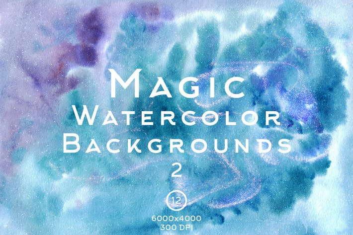 Thumbnail for Magic Watercolor Backgrounds 2