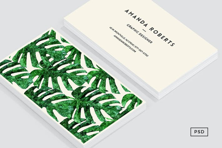 Thumbnail for Monstera Pattern Business Card