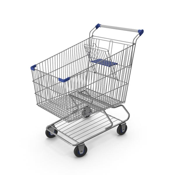 Shopping Сart with Blue Plastic
