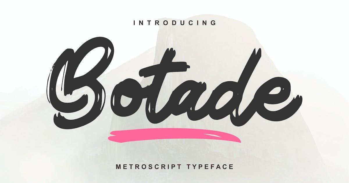 Download Botade   Metroscript Typeface Font by Vunira
