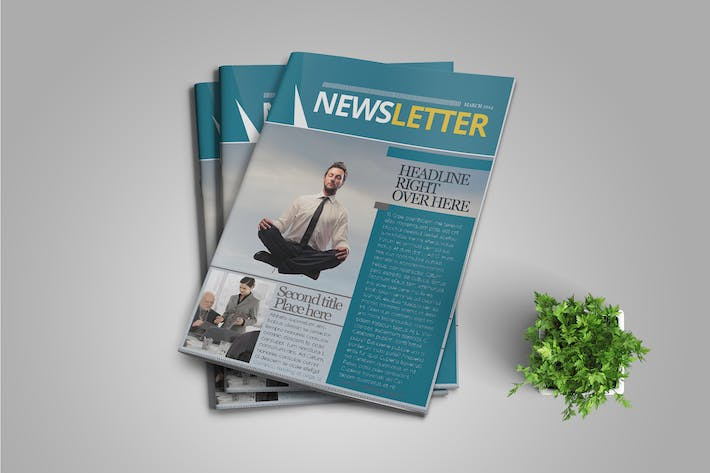 Thumbnail for InDesign Newsletter Template