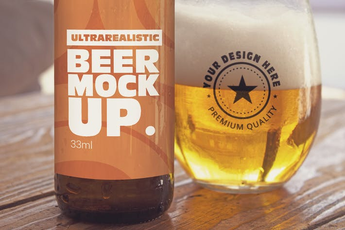 Thumbnail for Label & Cup Beer Mockup