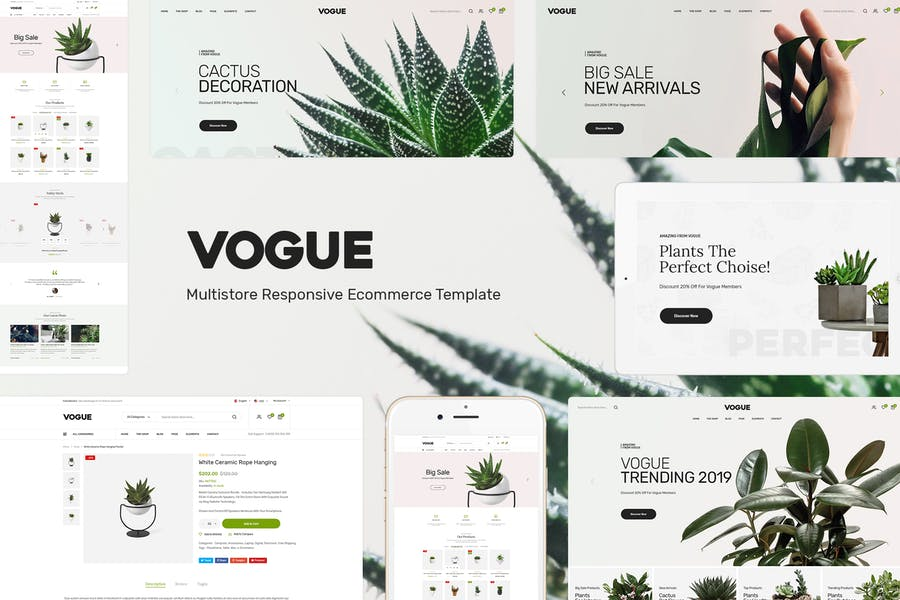 Vogue - Plant Store Prestashop Tema