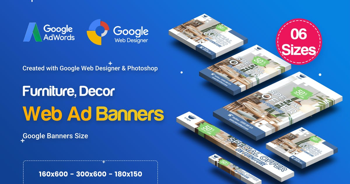 Download C73 - Furniture, Decor Banners Ad GWD & PSD by iDoodle