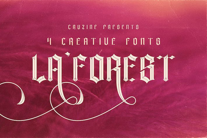 Thumbnail for La Forest Typeface