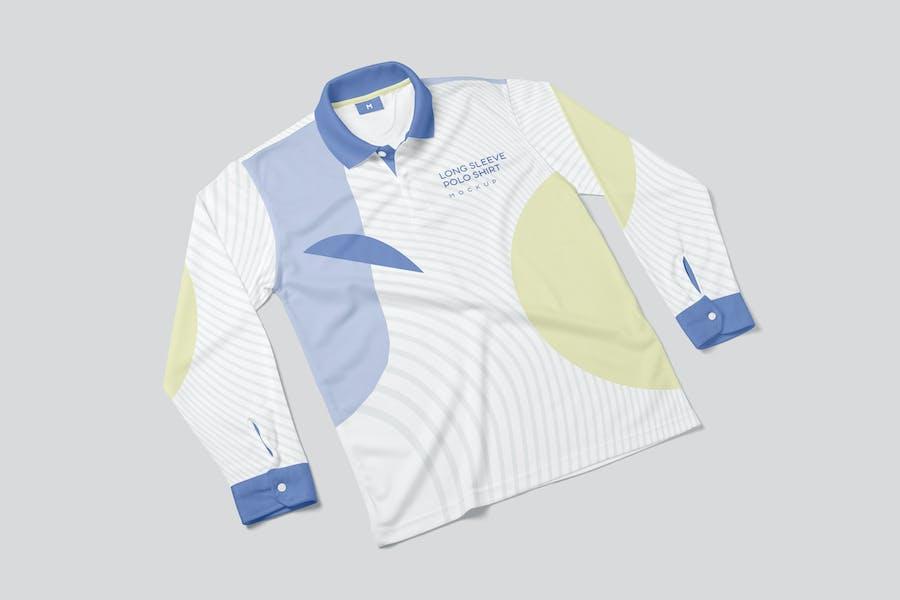 Long Sleeve Polo Shirt Mockups